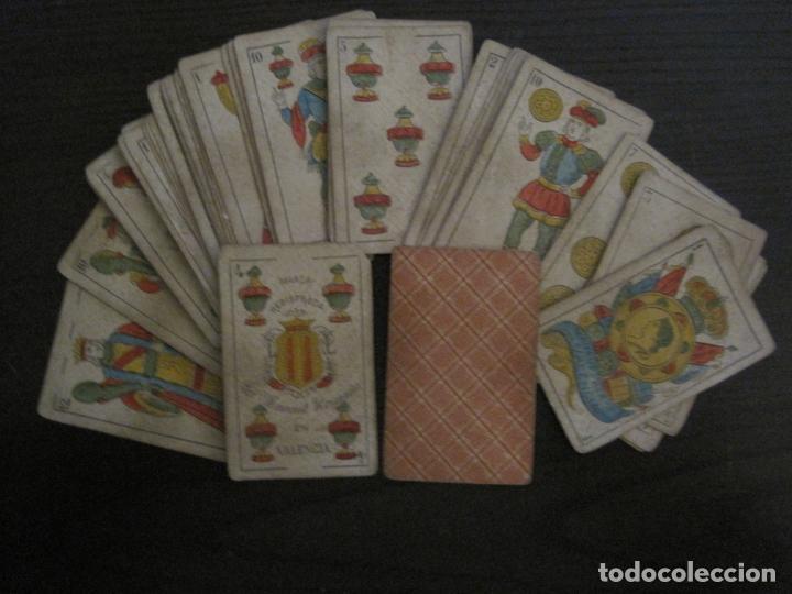 BARAJA DE CARTAS ANTIGUA-MANAUT HERMANOS-VALENCIA-40 CARTAS-VER FOTOS-(V-18.789) (Juguetes y Juegos - Cartas y Naipes - Baraja Española)