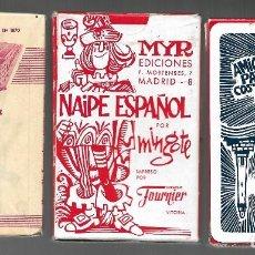 Barajas de cartas: BARAJA ESPAÑOLA 1ER. MODELO DE MINGOTE, AMIGOS DE PALAMOS, TIMBRE 2-IP VERDE 1968. PRECINTADA.. Lote 191817890
