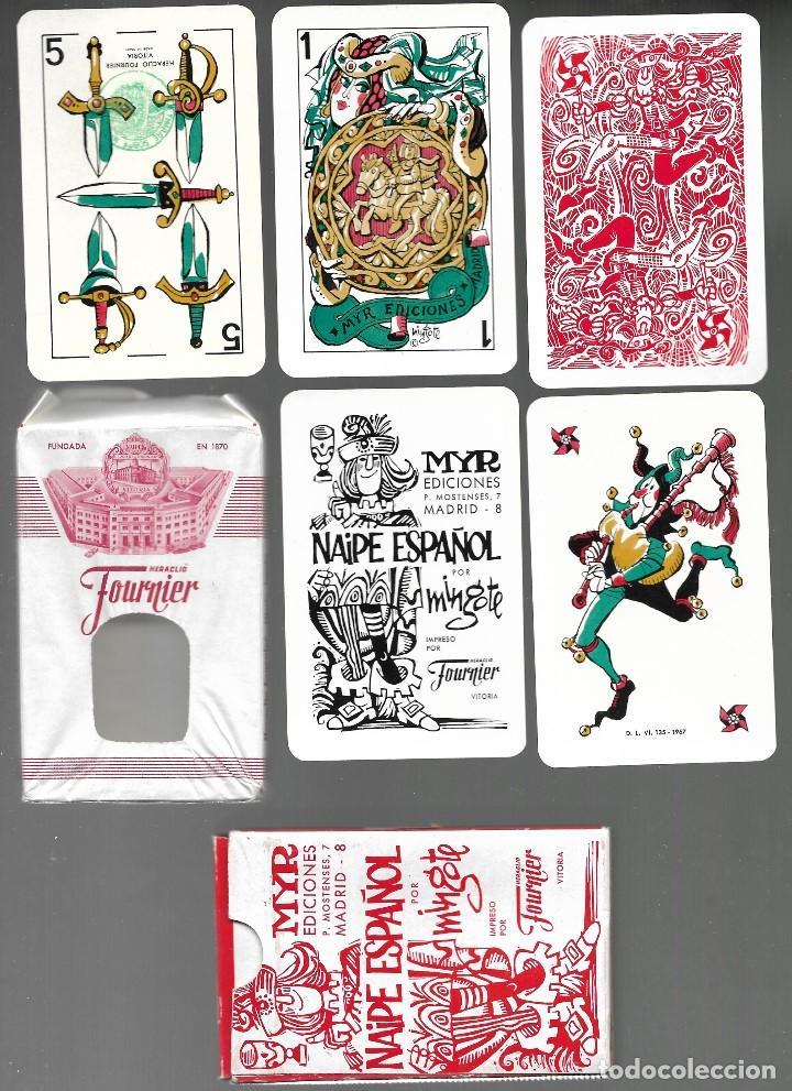 BARAJA ESPAÑOLA 1ER. MODELO DE MINGOTE, CABALLOS DIFERENTES, TIMBRE 2-IP VERDE 1968. PRECINTADA. (Juguetes y Juegos - Cartas y Naipes - Baraja Española)