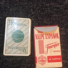 Barajas de cartas: NAIPE ESPAÑOL BARAJA FOURNIER 40 BANCO OCCIDENTAL. Lote 191921100