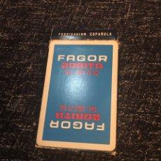 Barajas de cartas: NAIPE ESPAÑOL BARAJA FOURNIER PUBLICIDAD FAGOR. Lote 191921492