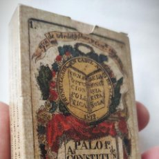 Barajas de cartas: CONSTITUCIÓN DE CADIZ - BARAJA ESPAÑOLA - ESPAÑA SIGLO XIX (1822) - SIN USO - FOURNIER - PALO 1º. Lote 191966901