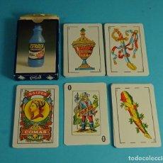 Barajas de cartas: BARAJA ESPAÑOLA CON PUBLICIDAD LEJÍA CON DETERGENTE ESTRELLA. NAIPES COMAS. Lote 192005500