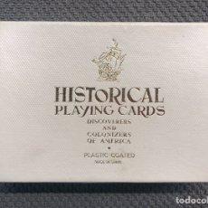 Barajas de cartas: FOURNIER. BARAJA HISTÓRICA, PÓKER. DESCUBRIDORES Y COLONIZADORES DE AMERICA EDICIÓN DE LUJO (A.1960). Lote 192168178