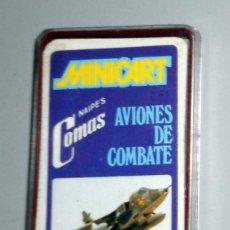 Mazzi di carte: BARAJA CARTAS ANTIGUA COLECCIÓN MINICART AVIONES DE COMBATE NAIPES COMAS. MINI. NUEVA A ESTRENAR!!. Lote 192180966