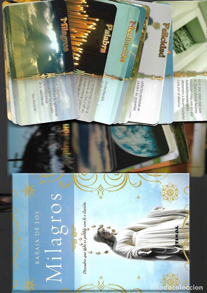 BARAJA DE LOS MILAGROS EN SU CAJA CON LIBRO EXPLICATIVO. . NUEVA. TIKAL. 40 CARTAS. (Juguetes y Juegos - Cartas y Naipes - Barajas Tarot)