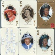 Mazzi di carte: BARAJA ESPECIAL COMMEMORATIVA DE LOS 60 AÑOS DE REINA DE ISABEL DE INGLATERRA. Lote 192816278