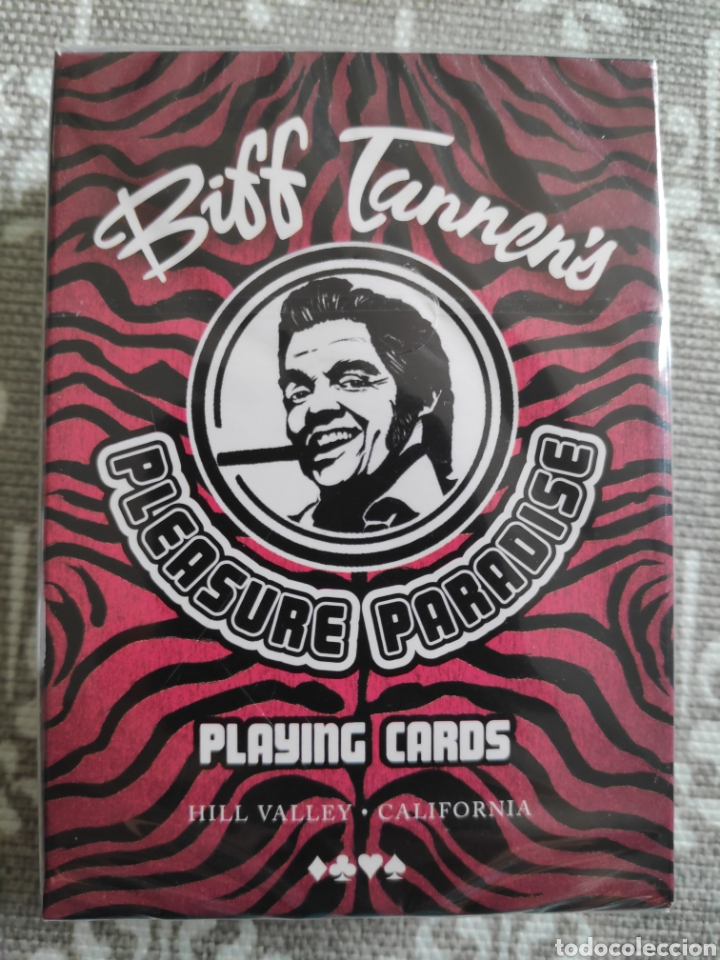 Barajas de cartas: Baraja de cartas poker Regreso al futuro II Biff Tannen pleasure paradise nuevo - Foto 4 - 217543988