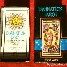 Barajas de cartas: DIVINATION TAROT (1988) REPRODUCCION TAROT SIGLO XVIII (INCOMPLETO) CARTAS NAIPES COMAS - ED. NEGSA. Lote 193036738