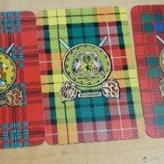 Baralhos de cartas: LOTE DE 5 CARTAS JÓKER CLANES ESCOCESES. Lote 193219936
