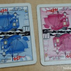 Baralhos de cartas: LOTE DE 2 CARTAS JÓKER ITALIAN LINE. Lote 193220221