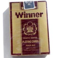 Barajas de cartas: BARAJA DE CARTAS-PLAYING CARD-WINNER -SIN ESTRENAR CON PLASTICO DE ORIGEN. Lote 193402818