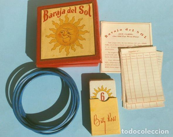 Barajas de cartas: BARAJA DEL SOL - JUEGO DESTREZA (muy RARO) SUN CARDS AN OLD FAR WEST PLAY - años 50 ed. Billy Ross - Foto 3 - 193427940