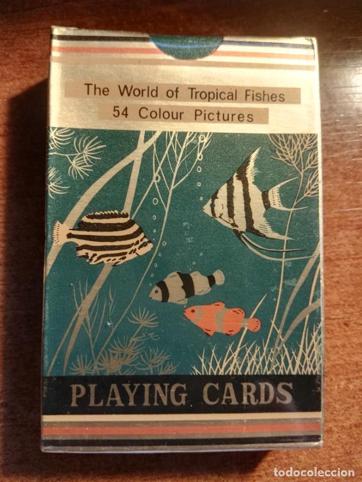 BARAJA CARTAS DE PÓKER. LOS PECES TROPICALES, 54 IMÁGENES TROPICAL FISHES NUEVA PRECINTADA (Juguetes y Juegos - Cartas y Naipes - Barajas de Póker)