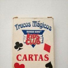 Jeux de cartes: CARTAS TRUCOS MAGICOS BURGER KING KIDS CLUB 54 CARTAS COMPLETA BARAJA NAIPES POKER. Lote 193874180