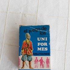 Barajas de cartas: BARAJA INFANTIL EL JUEGO DE LOS UNIFORMES MILITARES, HERACLIO FOURNIER 1970. Lote 193890345