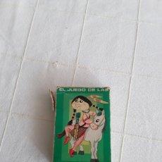 Barajas de cartas: BARAJA INFANTIL EL JUEGO DE LAS RAZAS HERACLIO FOURNIER 1960. Lote 193891678