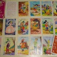 Barajas de cartas: ANTIGUA BARAJA CARTAS INFANTIL 1958. WALT DISNEY FOURNIER.PINOCHO CENICIENTA MICKEY PETER PAN. 60 GR. Lote 193945207