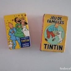 Barajas de cartas: 2 BARAJAS DE TINTIN. Lote 193982807