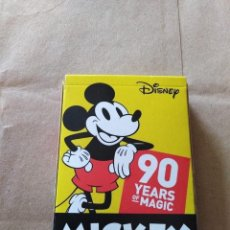 Barajas de cartas: MICKEY MOUSE-THE TRUE ORIGINAL 90 YEARS OF MAGIC-FOURNIER. Lote 194061712