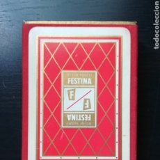 Barajas de cartas: BARAJA FOURNIER PUBLICIDAD FESTINA RELOJ SUIZO - PRECINTADA - TIMBRE VERDE TRES PESETAS - POKER. Lote 194131960