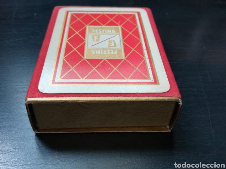 Barajas de cartas: Baraja Fournier publicidad Festina Reloj Suizo - Precintada - Timbre verde tres pesetas - Poker - Foto 4 - 194131960