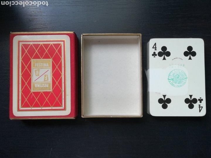Barajas de cartas: Baraja Fournier publicidad Festina Reloj Suizo - Precintada - Timbre verde tres pesetas - Poker - Foto 8 - 194131960