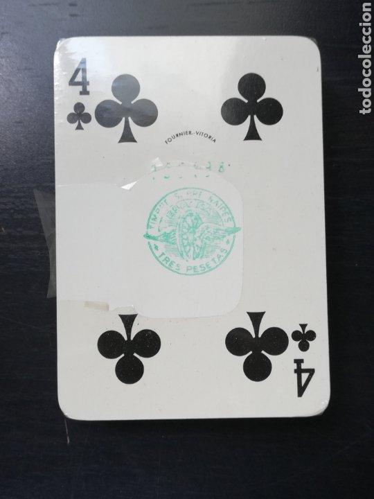Barajas de cartas: Baraja Fournier publicidad Festina Reloj Suizo - Precintada - Timbre verde tres pesetas - Poker - Foto 9 - 194131960