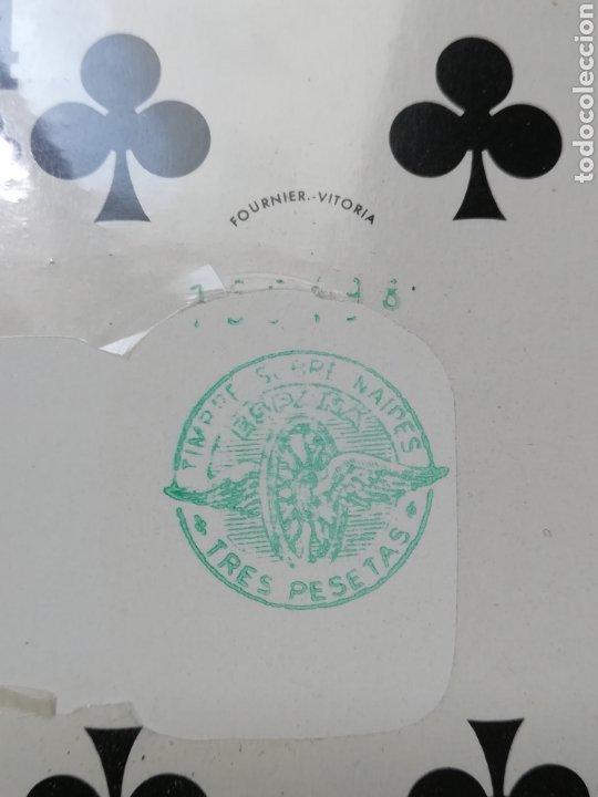 Barajas de cartas: Baraja Fournier publicidad Festina Reloj Suizo - Precintada - Timbre verde tres pesetas - Poker - Foto 14 - 194131960