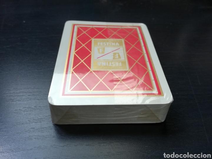 Barajas de cartas: Baraja Fournier publicidad Festina Reloj Suizo - Precintada - Timbre verde tres pesetas - Poker - Foto 16 - 194131960