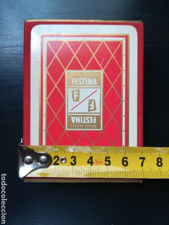 Barajas de cartas: Baraja Fournier publicidad Festina Reloj Suizo - Precintada - Timbre verde tres pesetas - Poker - Foto 17 - 194131960