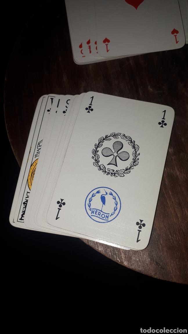 Barajas de cartas: Antigua baraja poker bridge HERON COMPLETA EN CAJA APENAS JUGADA PUBLICIDAD BARCO - Foto 2 - 194147777