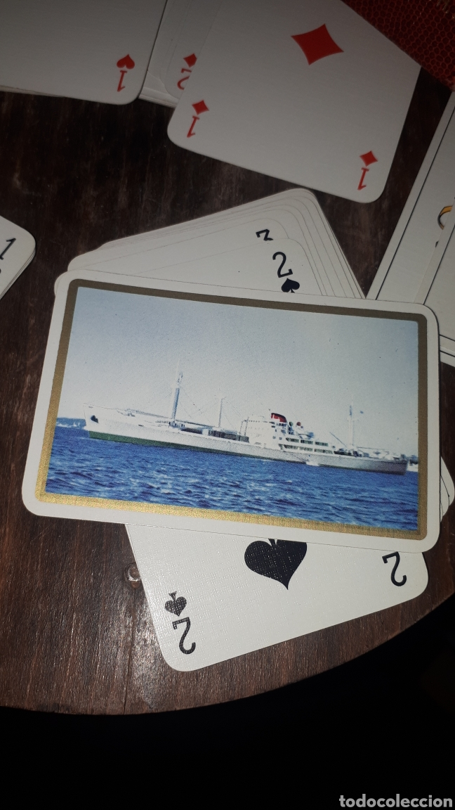 Barajas de cartas: Antigua baraja poker bridge HERON COMPLETA EN CAJA APENAS JUGADA PUBLICIDAD BARCO - Foto 3 - 194147777