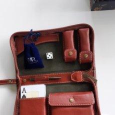 Barajas de cartas: ESTUCHE DE CARTAS PIEL MR, FOURNIER.. Lote 194186680