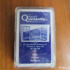 Barajas de cartas: BARAJA ESPAÑOLA FOURNIER-ALUMINIOS QUINTANILLA.S.L- SIN ESTRENAR . Lote 194191442