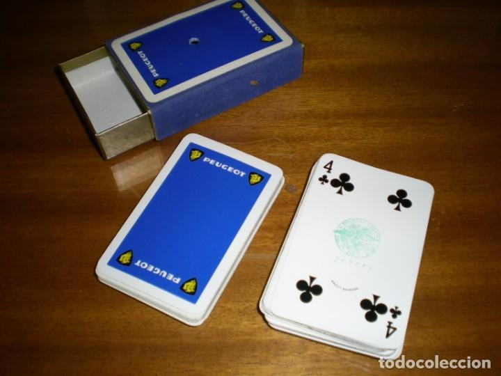 BARAJA PUBLICIDAD PEUGEOT (Juguetes y Juegos - Cartas y Naipes - Barajas de Póker)