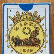 Barajas de cartas: BARAJA HISTORICA DE MADRID, 42 NAIPES. Lote 194214621