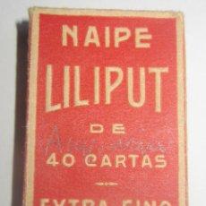 Barajas de cartas: FOURNIER – VICTORIA BARAJA LILIPUT NUEVA AÑOS 40-50 BONITA ESPAÑOLA, COMO NUEVA. Lote 194214641