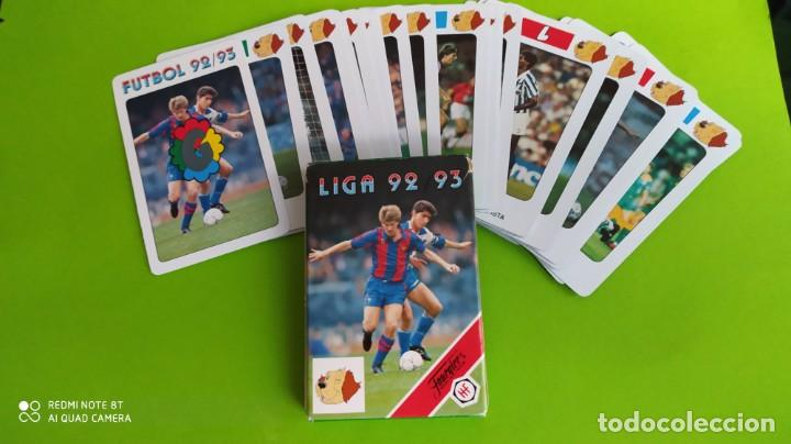 Barajas de cartas: JUEGO BARAJA CARTAS FOURNIER FUTBOL LIGA ESPAÑA 1992 1993 A ESTRENAR - Foto 2 - 194220526