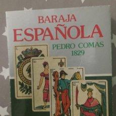 Barajas de cartas: BARAJA ESPAÑOLA, PEDRO COMAS 1829. FACSIMIL . Lote 194236177