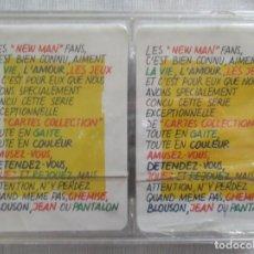 Barajas de cartas: CAJA CON DOS MAZOS DE BARAJAS DE POKER PUBLICIDAD NEW MAN SERIE TARJETAS DE COLECCIÓN.. Lote 194292671