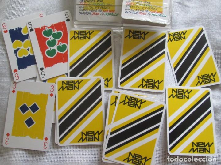 Barajas de cartas: Caja con dos mazos de barajas de poker publicidad NEW MAN serie tarjetas de colección. - Foto 6 - 194292671