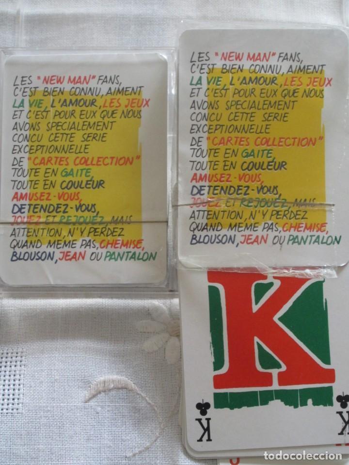 Barajas de cartas: Caja con dos mazos de barajas de poker publicidad NEW MAN serie tarjetas de colección. - Foto 7 - 194292671