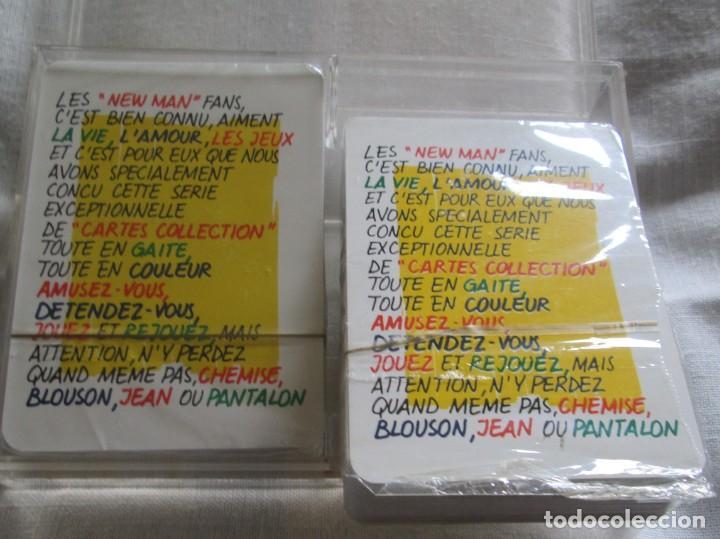 Barajas de cartas: Caja con dos mazos de barajas de poker publicidad NEW MAN serie tarjetas de colección. - Foto 8 - 194292671