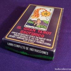 Barajas de cartas: BARAJA TAROT FOURNIER. EL GRAN TAROT ESOTERICO. SIN USAR. CARTAS PRECINTADAS. 1976.. Lote 194305558
