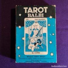 Barajas de cartas: BARAJA TAROT FOURNIER. TAROT BALBI. SIN USAR. CARTAS PRECINTADAS. 1978.. Lote 194305941