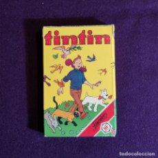 Barajas de cartas: BARAJA INFANTIL FOURNIER. TINTIN. SIN USAR. 32 CARTAS. 1981.. Lote 194306510