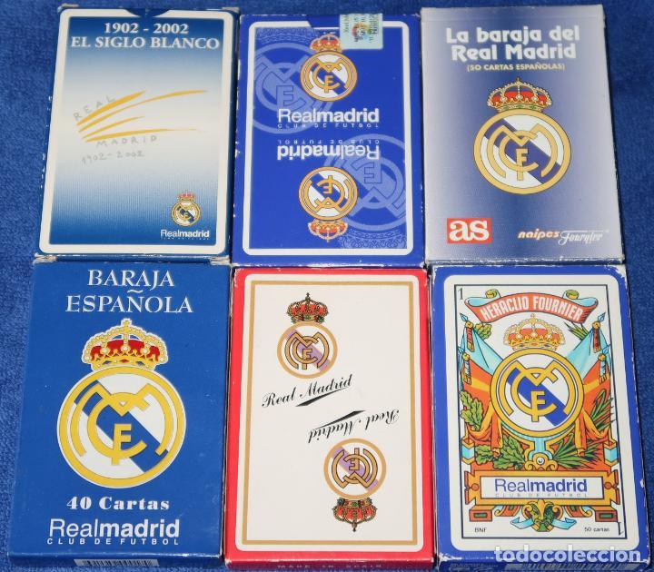 LOTE DE 6 BARAJAS DEL REAL MADRID - FOURNIER ¡NAIPES IMEPCABLES! (Juguetes y Juegos - Cartas y Naipes - Baraja Española)