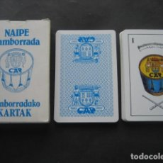 Barajas de cartas: BARAJA NAIPE TAMBORRADA. CAJA AHORROS PROVINCIAL GUIPUZCOA 1981. Lote 194446140