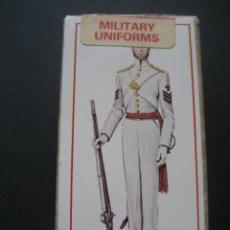 Barajas de cartas: 50 CARTAS UNIFORMES MILITARES. PUBLICIDAD DE TABACOS CRAVEN BLACK CAT. Lote 194489963